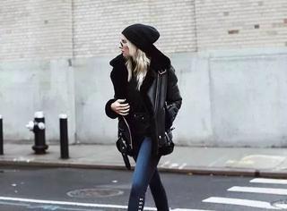 谁说冬天不能晒长腿,穿着秋裤照样美!