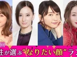 日本女性最想拥有的颜TOP10,人气最高是她!