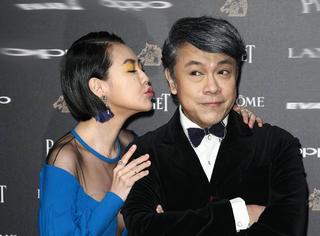 第54届台湾电影金马奖红毯:小s献吻康永哥,舒淇深V超美