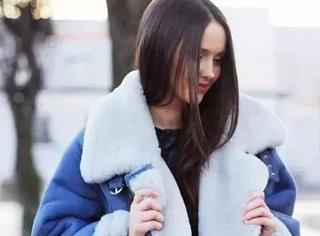 冬天只能穿大衣和羽绒服?别忘了羊羔毛外套