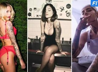 曾经的内衣模特现在是英国最性感的纹身师
