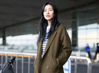 刘雯的长大衣,我穿可能会拖地吧…