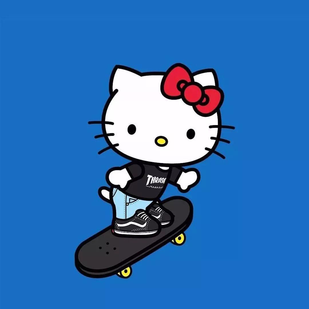 哆啦A梦和hello Kitty也可以很潮!