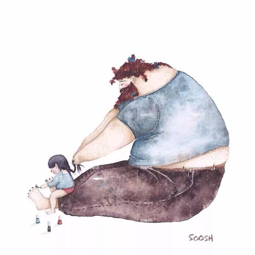 世界上最温柔的事,就是爸爸和女儿在一起~