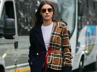 何穗景甜的大衣+牛仔裤+靴子,我能穿一整个冬天