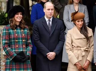 凯特和梅根一起出席王家圣诞活动,两位王妃谁更美?