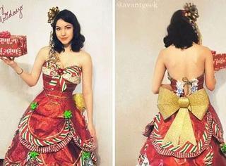 过度包装太浪费,这位设计师把它们变成了仙女裙