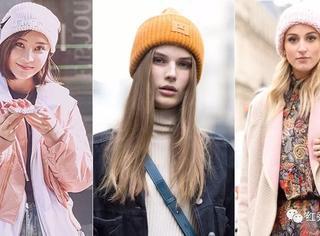 戴上毛线帽,时髦又抗寒!