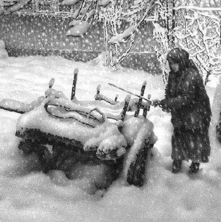 画雪61年,74岁老人一支铅笔将雪画活