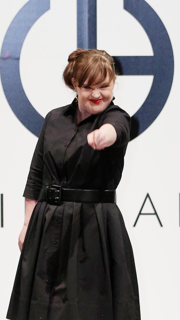 她是唐氏综合症患者 更是纽约时装周的特殊超模