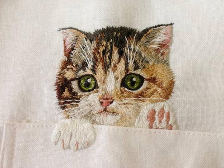 日本妈妈刺绣的这件暖心闷骚衬衫 转疯了网络