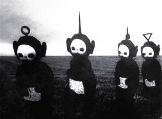 《天线宝宝》变成黑白之后,根本就是会吓哭小孩的鬼片啊