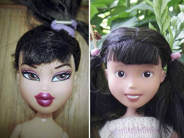 芭比娃娃卸了妆 再也做不了女神了