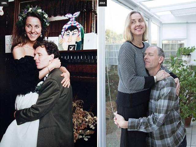 这12对夫妻翻拍了半辈子前的旧照 不离不弃才是最浪漫的事