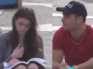 帅哥街头搭讪美女被拒绝 但几分钟后美女竟主动献吻