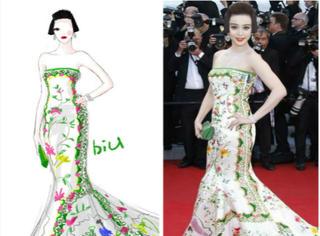明星时尚插画 用插画记录她们最美的瞬间