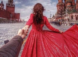 火了很久的牵手环游世界的男女主人公原来颜值这么高!