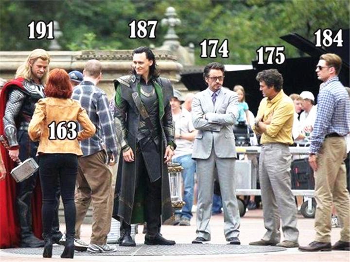 钢铁侠174cm?《复联2》超级英雄身高大揭秘!