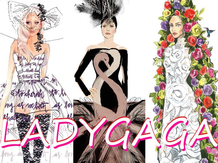全世界最棒的34个设计师都在忙着给Lady Gaga设计婚纱